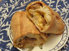 Sausage Bread with caramelized onions