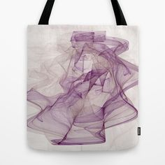 Woman with Hat abstract Fractal Art Tote Bag by Gabiw Art | Society6 - printed Tote Bag with the Design on both Sides, purple and cream