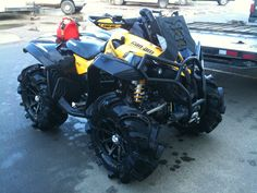 Can-am Renegade 1000 XXC-- Dang, look at those tires notice the engine intake and systems are moved higher to allow for almost under-water mud running! Can Am Atv, Quad Bike, Four Wheelers, Dirtbikes, Outdoor Toys, Off Road, Go Kart, Toys For Boys, Dream Cars