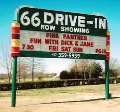 Carthage, MO. 66 Drive-in Theatre built in 1949.