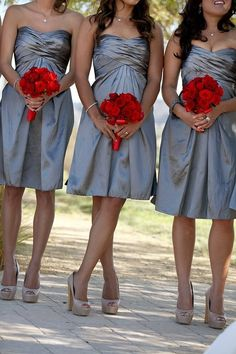 Red and Grey Wedding | *Spring Weddings*GROUP BOARD* | Pinterest