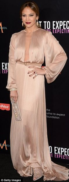 Jennifer Lopez at What to Expect When You're Expecting Premiere