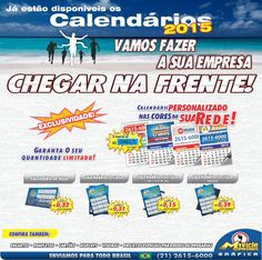 Antecipe-se! Aumente as suas vendas em 2015, CALENDÁRIOS, ÍMÃS E MUITO MAIS... #calendario #ima #mavicle #grafica