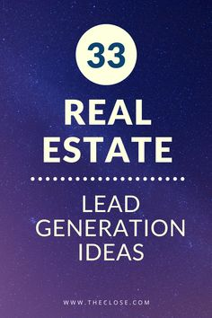 33 Underrated Real Estate Lead Generation Ideas for 2019 - The Close - Are you looking for new and innovative lead generation strategies? Here's a list of real estate l - Real Estate Branding, Real Estate Business, Real Estate Marketing, Real Estate Quotes, Real Estate Tips, New Home Checklist, Moving Checklist, Lead By Example Quotes, Home Selling Tips