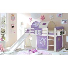Kinder Hochbett im Prinzessin Design Lila Beige Jetzt bestellen unter: https://moebel.ladendirekt.de/kinderzimmer/betten/hochbetten/?uid=017ae45f-bb77-5b20-b569-7f653d449662&utm_source=pinterest&utm_medium=pin&utm_campaign=boards #kinderzimmer #kinderhochbett #jugendhochbett #kinderbett #kind #hochbetten #kinderbettchen #hochbett #betten #hochbettgestell #bett #prinzessin