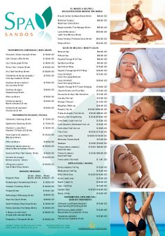 Sandos Playacar Beach Resort and Spa's official spa services list!  Looking to add a massage or some other extra service during your vacation timeshare stay at Sandos Playacar.