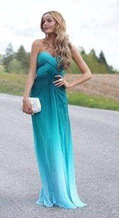 ombre blue dress <3