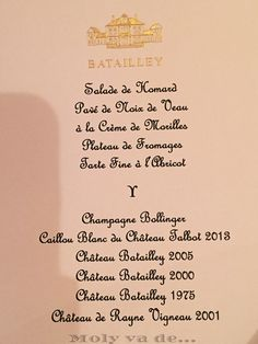 ¡La cena fue estupenda!  #ChâteauBataylley Commanderie de Madrid de los vinos de #Burdeos #Molyvade...#viaje #GranConseildesVinsdeBordeaux molyvade.blogspot.com