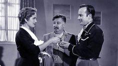 """Rosita Quintana, Joaquín Pardavé y Pedro Infante en """"EL MIL AMORES"""".-1954"""