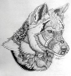 mandala wolf - Google Search