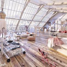Loft apartmnet decorating ideas #InteriorDesignLoft