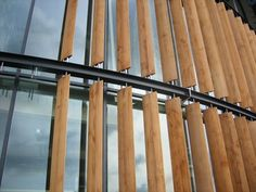 42 x 292mm Solid Western Red Cedar Aerofoil Louvre Blades: Architect, Timber Louvre,