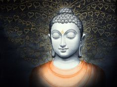 """""""Dwelling in the cave (of the heart), the mind, without form, wanders far and alone. Those who subdue this mind are liberated from the bonds of Mara."""" ~ The Buddha - Dhammapada Artist Manish Verma lis Gautama Buddha, Buddha Buddhism, Buddha Art, Buddha Peace, Buddha Canvas, Spiritual Images, Buddha Painting, Thai Art, Yoga Art"""