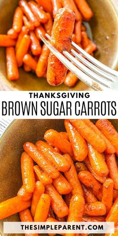 Makes this EASY and delicious glazed carrots recipe! It's the perfect Thanksgiving side dish and is so easy to make! Great for Christmas and Easter too! Perfect vegetable side dish. Thanksgiving Side Dishes, Thanksgiving Desserts, Vegetable Side Dishes, Vegetable Recipes, Brown Sugar Glazed Carrots, Carrot Recipes, Food Dishes, Dinner Recipes, Healthy Eating