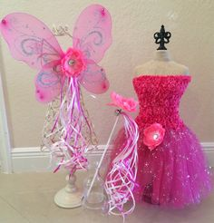 Hey, I found this really awesome Etsy listing at https://www.etsy.com/listing/177878473/pink-fairy-dress-pink-fairy-wings-pink