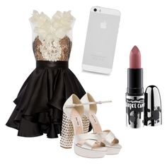 """""""Lety's Graduate 1 Look"""" by prettyliarxs on Polyvore featuring Marchesa, Miu Miu and MAC Cosmetics"""