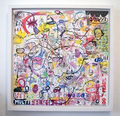 Arte em papel ph neutro, técnica mista com moldura em madeira branca Medidas: 1.0x1.0 Artista: Loro Verz www.loroverz.com #loroverz #art #papel