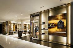 brass Louis Vuitton Shop front design
