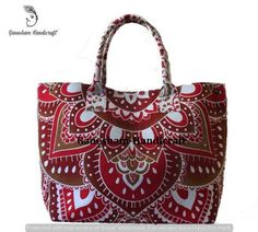 e081b1d6d1 Handmade Mandala Boho Hobo Cotton Messenger Bags Top Handle Tote Bags For  Girls