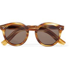Illesteva Leonard II round-frame acetate sunglasses ($305) ❤ liked on Polyvore featuring accessories, eyewear, sunglasses, glasses, tortoiseshell, tortoise sunglasses, round tortoiseshell glasses, acetate glasses, tortoise shell sunglasses and tortoise glasses