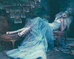 Fashiontography: Kristen McMenamy by Paolo Roversi #fashion #editorial #dreamy #blue