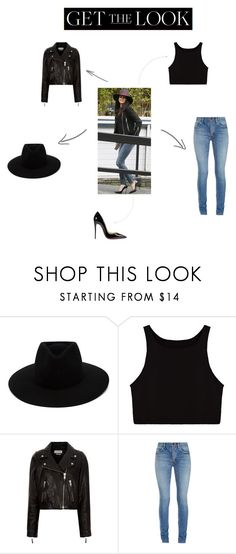 """""""Get the look: Selena Gomez"""" by callistafustine on Polyvore featuring rag & bone, Étoile Isabel Marant, Yves Saint Laurent, Christian Louboutin, GetTheLook and hats"""