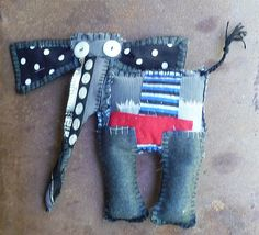 Fabric Dolls, Fabric Art, Fibre And Fabric, Monster Dolls, Denim Crafts, Create And Craft, Sewing Toys, Soft Dolls, Applique Quilts