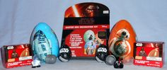 "Various Star Wars Easter related items from 2016 Milk Chocolate Eggs with ""Surprise"" and Easter Egg Decorating Kit"