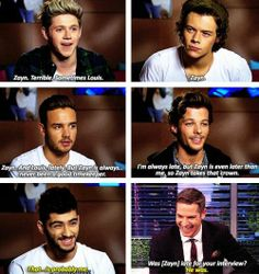 One Direction on who is always late