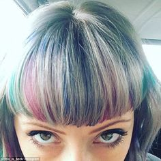 Major change:Of course, the look does only work for those of you with a fringe in the first place, but if you're up for a major hair change, it will work wonders