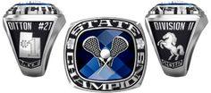 2012 Mountain Crest Mustangs Boys D-II Championship Lacrosse Ring