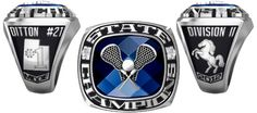 2012 Mountain Crest Mustangs Boys D-II Championship Lacrosse Ring