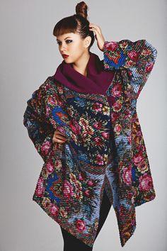 Шерстяные женские пончо от дизайн-студии одежды Kalinkinhill