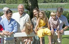 All of the members of the Danish royal seemed to be enjoying the warmer months and were all smiles during the shoot