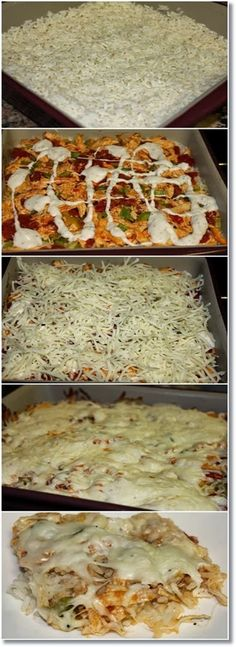 Buffalo Chicken Casserole. 1/2 cup uncooked regular long-grain white rice 1 cup water 1 tablespoon olive or vegetable oil 1 lb boneless skinless chicken breasts, cut into thin strips 2 medium stalks celery, thinly sliced (1 cup) 1 can (14.5 oz) stewed tomatoes, undrained 1/2 cup buffalo wing sauce 1/4 cup blue cheese dressing 1 1/2 cups of mozzarella cheese