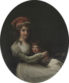 Portrait of a Mother and Daughter, c. Attributed to Henri-Pierre Danloux (French, Oil on canvas, Framed: x x cm x 17 x 1 in. Unframed: x 36 cm x 14 in. Bequest of Muriel Butkin European History, Art History, Baroque, Rococo, Best Portraits, Child Portraits, Mother Dearest, Miniature Portraits, Cleveland Museum Of Art