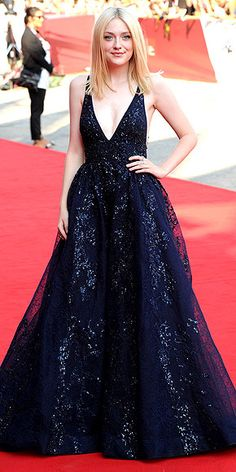Dakota Fanning in Elie Saab, red carpet to reality, celebrity style, celebrity look for less