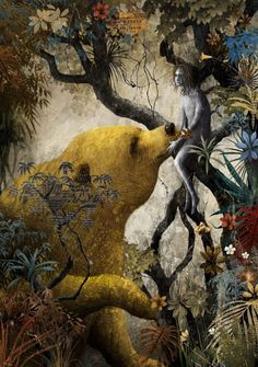 illustration by  Gabriel Pacheco for The Jungle Book by Rudyard Kipling.