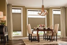 Gain privacy without blocking all of the light with Bottom/Up Top/Down cellular shades.