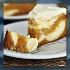 Carrot Cake Cheesecake - I'm making this asap! ...and it was amazing!