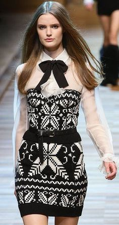 Dolce and Gabbana Fall 2010 Black and White Dress