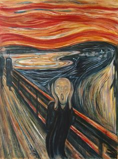 Oil painting (Scream) by Edvard Munch famous oil painting on canvas for wall decoration high quality Famous Art Paintings, Famous Artwork, Classic Paintings, Famous Art Pieces, Van Gogh Paintings, Great Paintings, Edvard Munch, Vincent Van Gogh, Arte Inspo