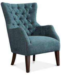 Adelyn Button Tufted Wing Back Chair, Direct Ship