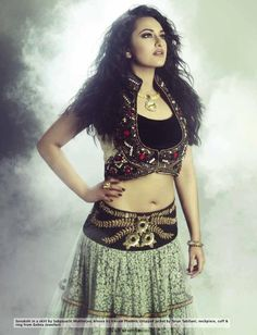 Sonakshi Sinha in Sabyasachi Mukherjee Skirt - Hi! Blitz September 2012