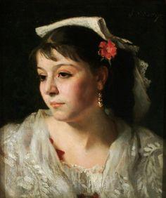 Una donna italiana della Ciociara, di John Singer Sargent, Canajoharie Art Gallery di New York