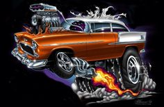 Cartoon Pics, Cartoon Art, Ed Roth Art, Cool Car Drawings, Garage Art, Weird Cars, Automotive Art, Cool Cartoons, Hot Cars