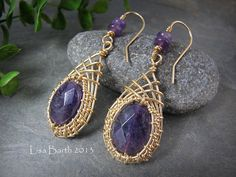 Woven Ear Ring Tutorial by LisaBarthJewelry on Etsy