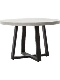Maceo Modern Classic Round Concrete Metal Dining Table - 48 inch ❤ Kathy Kuo Home