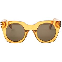 Pre-owned Marc Jacobs Oversized Sunglasses ($147) ❤ liked on Polyvore featuring accessories, eyewear, sunglasses, yellow, marc jacobs, marc jacobs sunglasses, oversized glasses, marc jacobs eyewear and yellow glasses