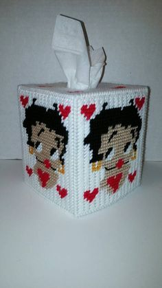 Betty Boop Tissue Box Cover In Plastic Canvas by paulieshoppe